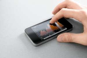 Ein Handy mit einem neuen Gadget aus China