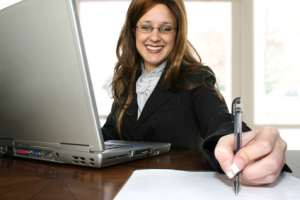 Eine Frau arbeitet an ihrer Persönlichkeit