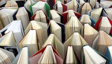 Bücher in einer Reihe stehend