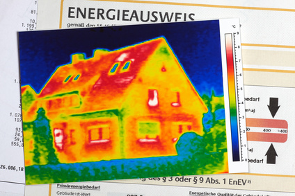 Die Thermography eines Hauses