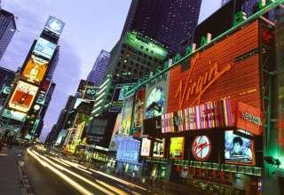 Times Square bei Nacht, Manhattan, New York, USA