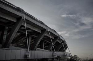 Ein Fußball-Stadion