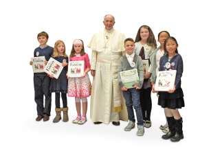 Der Papst antwortet auf Kinderfragen: Ein neues Buch bietet Denkanstöße und Lesespaß für jedes Alter. Foto: djd/www.koesel.de