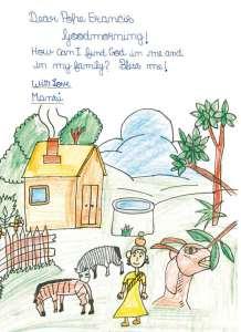 Die Kinderbriefe an den Papst sind liebevoll illustriert. Foto: djd/www.koesel.de